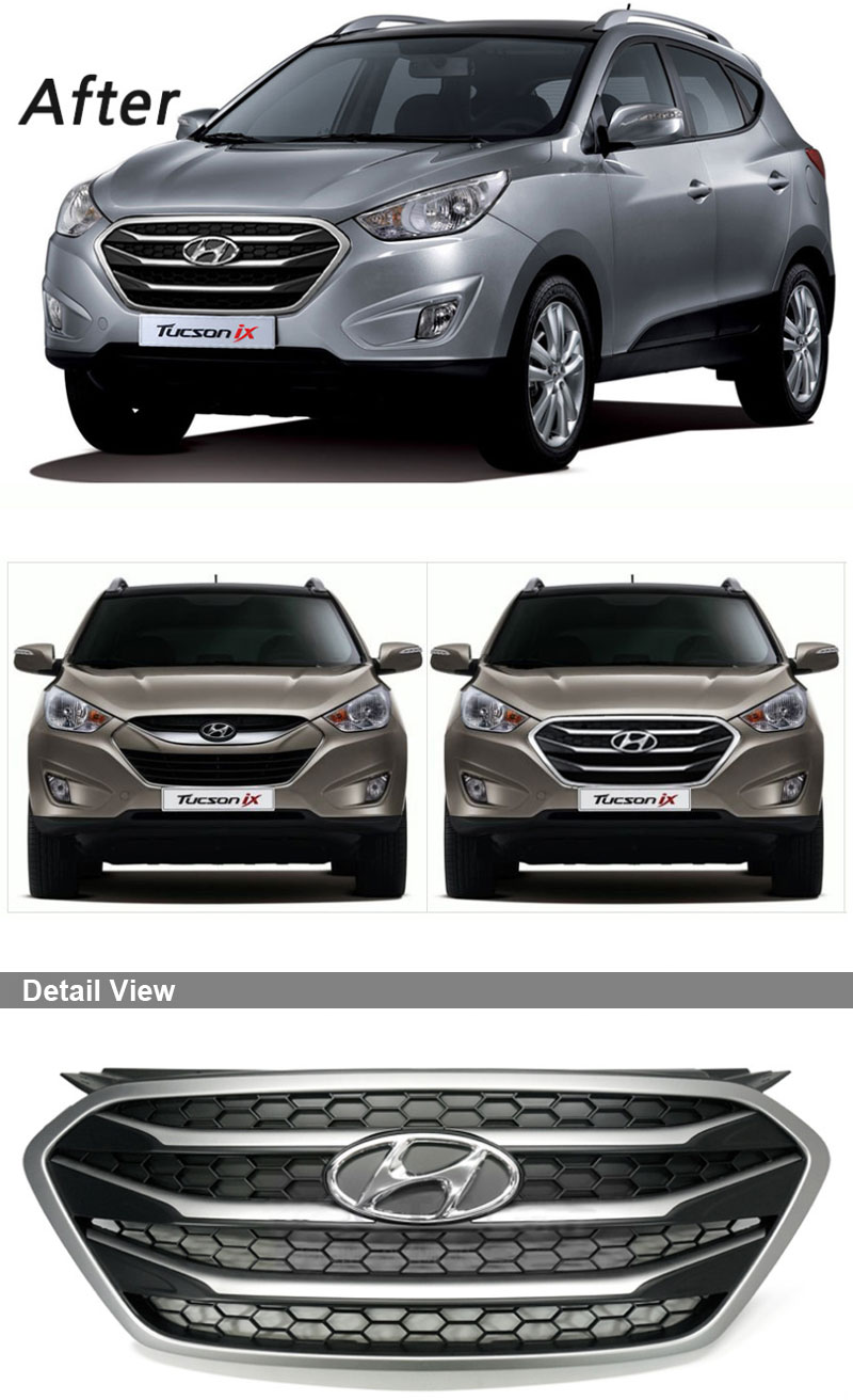 genuine oem parts radiator hood grill for hyundai tucson. Black Bedroom Furniture Sets. Home Design Ideas