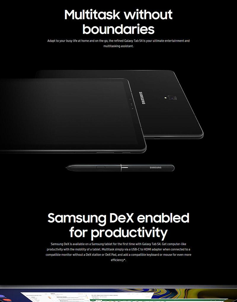 SAMSUNG Galaxy Tab S4 10 5 64GB 256GB Tablet SM-T830 WiFi SM-T835 4G LTE  RAM 6GB
