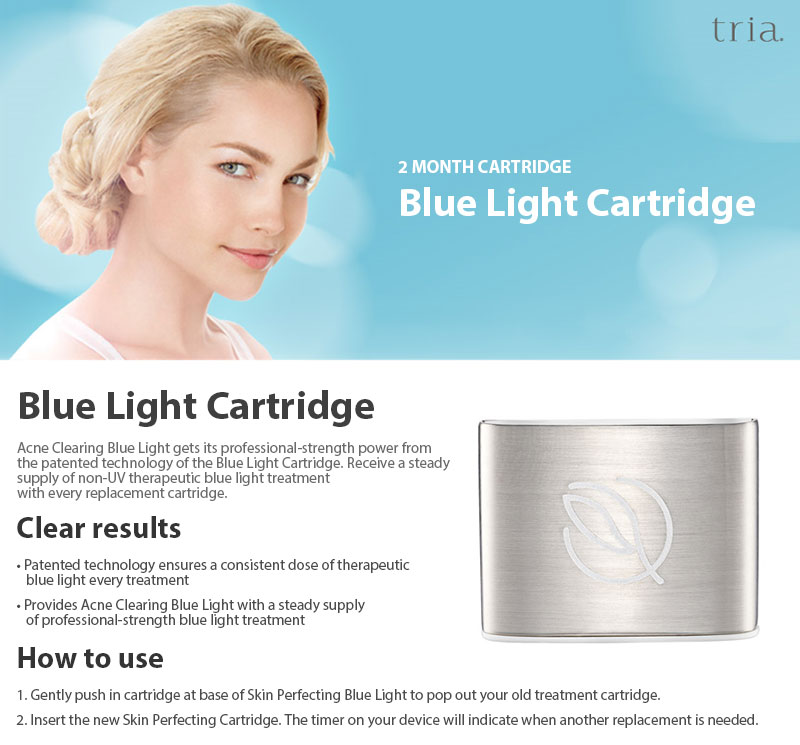 Details About Tria Blue Light Cartridge Acne Clearing Skin Beauty