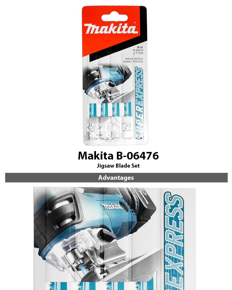Makita B-06292 Super Express Pack of 3 75mm Assorted Jigsaw Blades